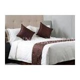 Queen Size 3cm Stripe Jacquard Luxury Hotel Bed Linen For Sheraton Soft and Comfortable