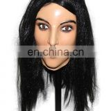Lovely masquerade Fancy dress Latex Lady Mascot Halloween Costume Accoutrements Deluxe Female Latex MASK With CE