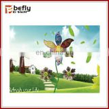 Promotional kids plastic sunflower windmills