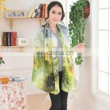 2013 New Lady Digital Printing Silk Scarf (crepe satin plain)