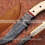 Damascus knifes - CUSTOM MADE DAMASCUS STEEL HUNTING TANTO KNIFE