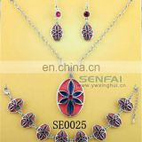 African Costume Jewelry Set Wholesale Flower Charms