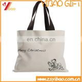 Wholesale custom logo recylable cotton canvas tote shopping / casual bag for women