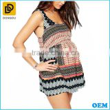 Sexy strap bohemia style women summer cover up maternity slip beach dress