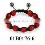 wholesale new style joya bracelet china shamballa bracelet diamond shamballa bracelet with Polymer clay Crystal balls