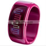 2013 latest and hot products bangle watch with bright color and LED movement