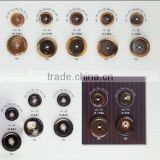 4-holes black color resin buttons for suit jacket