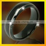 vogue black tungsten band mens jewellery