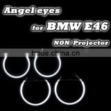 China exporter Car LED Accessory For E46 A+B CCFL Angel eyes White red blue green yellow car Accessory CCFL Angel eyes