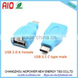 10Gbps Super Speed USB 2.0 A Type Female USB 3.1 C Type Male Adaptor connector for Macbook