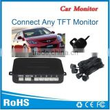 Car parking sensor system four sensors and camera, can connect with all kinds of display and dvd