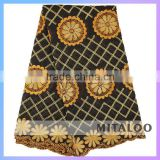 Mitaloo Good Quality Competitive Price OEM/ODM Brown African Voile Lace Fabric MSL0375