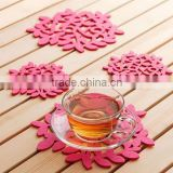 Customized Plant Shape Silicone Placemat/Silicone Cup Coaster/High Quality Anti-slip Silicone Cup Mat