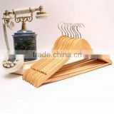 High Quality Top sale arched vintage style straight wooden hangers