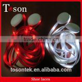 High Quality Nylon LED Shoe Laces,Party Led Flashing Shoelace,Cheerful Lighting Shoelace