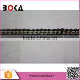 Latest design metal beads lace trim for wedding dress
