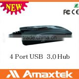 Reasonable Price High Speed 4-Port USB 3.0 Charging Hub Device with External Power Supply