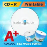 A+ Blank CDR 52X 700MB printable cd taiwan products