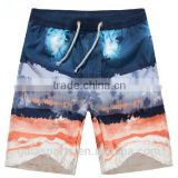 2015 summer cool dye sublimation printed mens beach short Mens Waterproof Beach/Swim Trunk For Surf