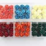 Nice Passion Color Assorted Lot Synthetic Turquoise Carved Rose Howlite Coral Flower Carving Loose Beads Jewelry Making