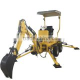 Mini excavator manufacturer factory direct mini towable backhoe with wheel
