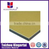 Alucoworld skillful alusign gold brushed acp boards aluminum composite material eco-friendly material wall cladding