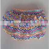 Sales Promotion!4th of july New arrive colorful chevron fabric chevron zig zag diaper fashion design chevron baby diaper