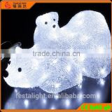 acrylic led 3d motif animal/mother baby polar bear christmas light