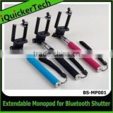Adjustable Extendable Wireless Bluetooth Monopod Selfie Stick with Remote Shutter Function for iPhone 5/6