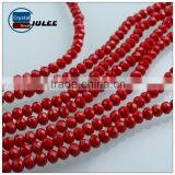 Beautiful crystal wholesale beads bracelets and necklace cheap rondelle beads porcelain glass beads