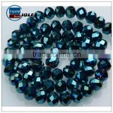 Hot selling roundell crystal beads china bead manufacturers latest design beads necklace spare parts for chandeliers