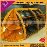 Wooden Rice Fruit Vegetable Storage Rack wooden vegetable shelf                                                                         Quality Choice