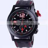 Wholesale silicone cool flat sport luxury men watches                                                                                                         Supplier's Choice
