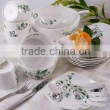 fine bone china porcelain dinnerware set with dedal --rose