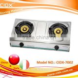 two burners cheap cooking stainless steel gas stove (CIDX-7002)                                                                         Quality Choice
