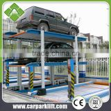 auto car elevator parking system 3 level vertical horizontal parking lift equipment with CE
