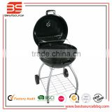 Kettle charcoal bbq grill with cover and 2 wheel for easy moving