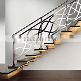 Factory supply indoor hand railing balcony railing designs used wrought iron stair railing