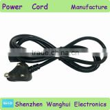 China manufacturer of Singel Head Small South Africa power cord India 3 pin Copper plug 7/16 6.8mm 1m