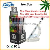 Dican co2 oil rechargeable vape pen ecig innovative glass atomizer cbd oil 0.5ml refill 1mm intake oil hole