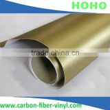 Golden Brushed Aluminum Type Carbon Fiber Car Wrapping Sticker Film / Mettlic Brushed Vinyl / Size 30 X 1.52 m