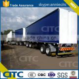 PVC or Nylon material curtain side wall semi trailer/3 axle truck trailer/superlink trailer