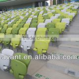 indoor anti-fire fixed tip-up stadium seat,retractable seating system for multiuse sports center,school