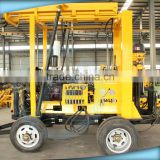 Trailer Water Borehole Drilling Machine with Low Speed Drill