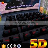 high technology Hydraulic Simulator 5D Cinema Motion Chair Ride Simulator amusement park used equipment
