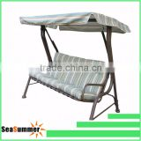 Outsunny Garden Patio Swing Chair 3 Seater Swinging Hammock Outdoor Cushioned Bench Seat