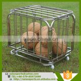 basket ball euipment Foldable basketball trolley , airport luggage cart trolley with baffle For Storage Balls