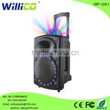 12 inch 10 inch plastic portable trolley speaker with light ball