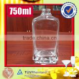 750ml french square high transparent clear glass bottles vodka                                                                                                         Supplier's Choice
