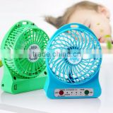 genixgreen Rechargeable MINI fan Power Bank oem 2600mah External travel power bank with led light